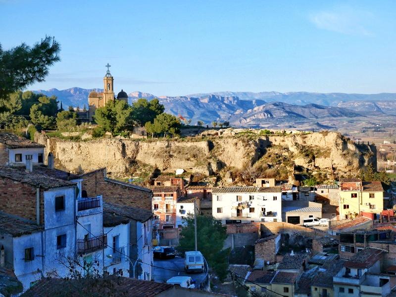 Balaguer Stadtmauer blick auf castell formos