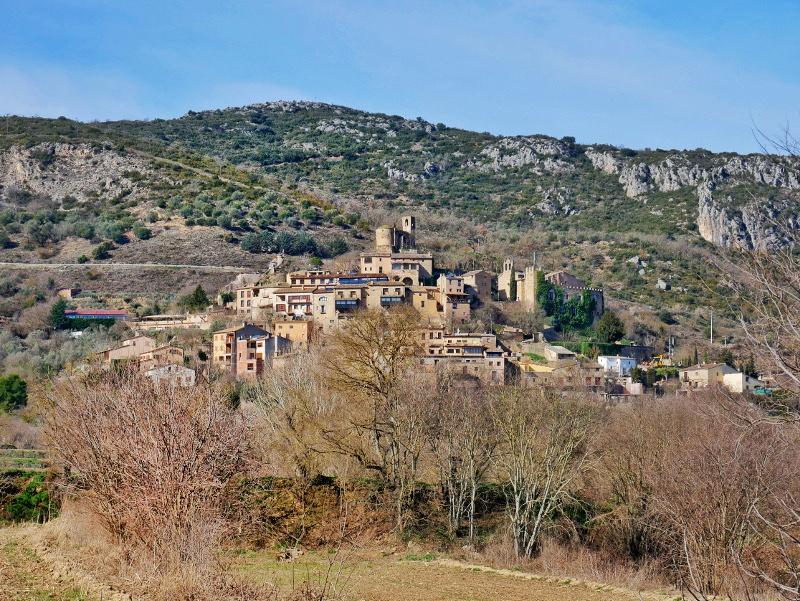 Dorf Hügel castell de montsonís