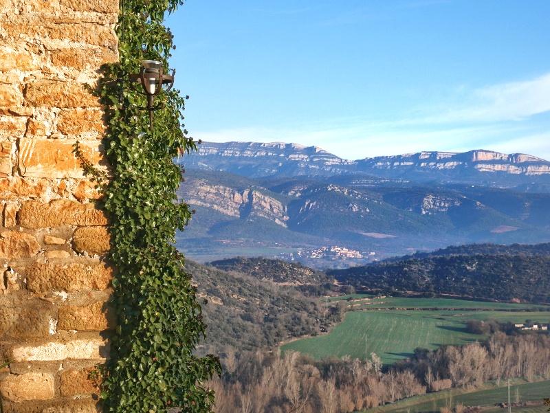 blick aussicht Pyernäen castell de montsonís