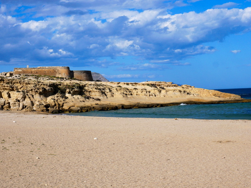 castell playa playazo cabo de gata
