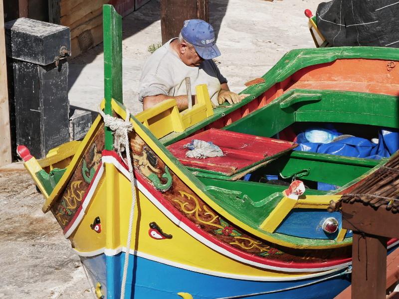 fischerboot amlta Popeye village auf malta
