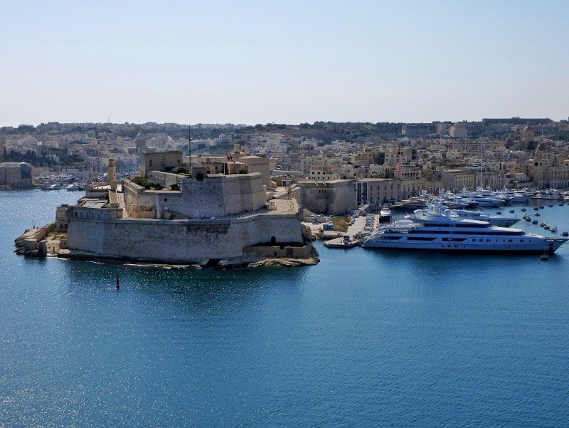 Valletta blick auf birgu