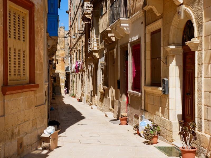 gasse birgu three cities malta