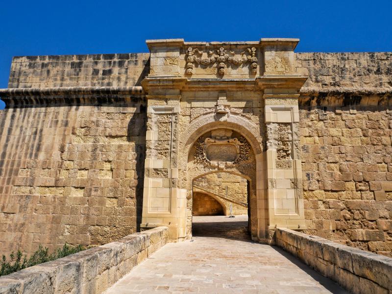 tor eingang birgu three cities malta