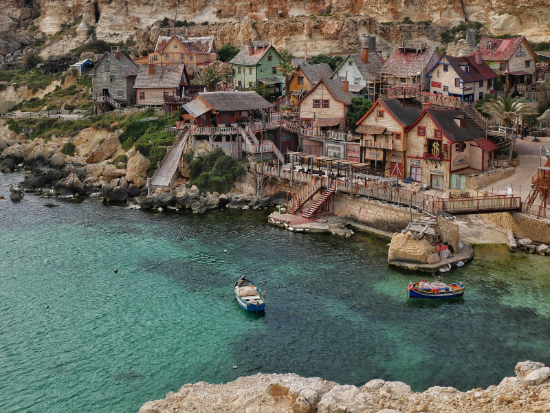 Popeye village auf malta anchor bay