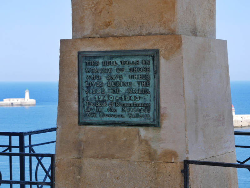 valletta malta siege bell