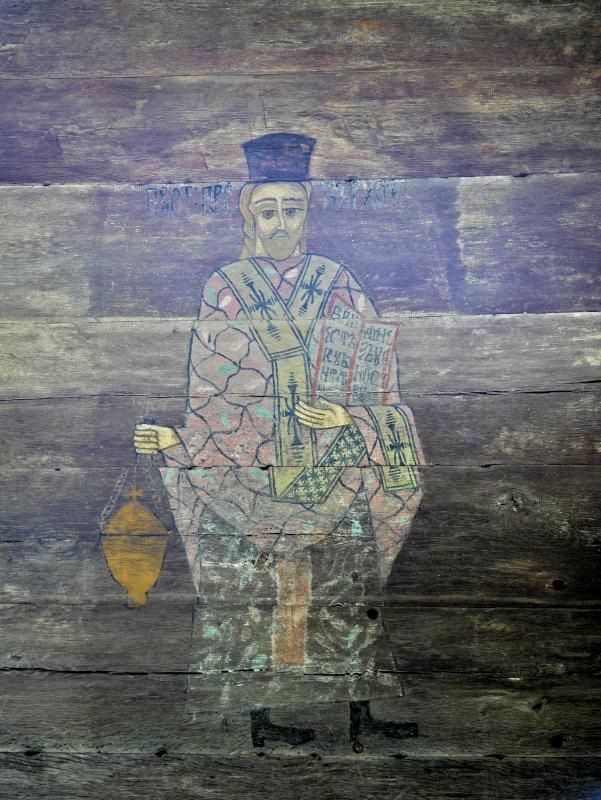 malerei auf holzkirche bukarest