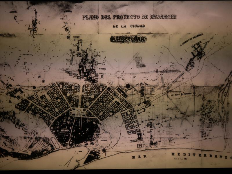 Eixample plan Barcelona Museum katalanische Geschichte MHC freibeuter reisen plan rovira i trias