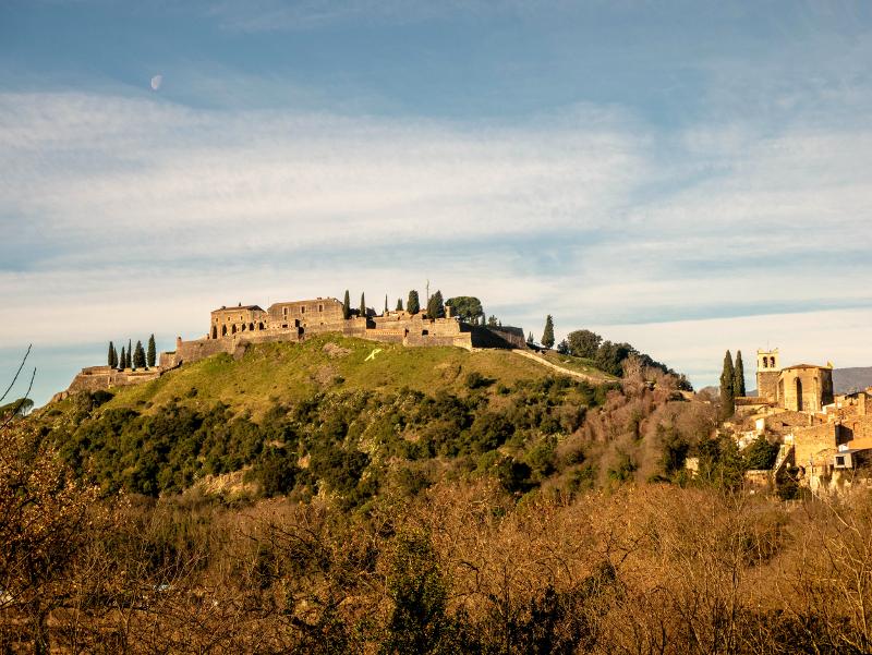 hostalric castell burg