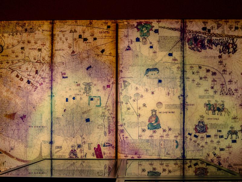 Atlas catala Cresques Weltkarte girona Museum juedische Geschichte