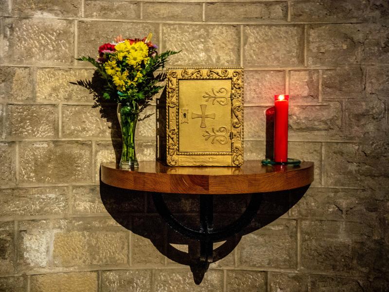 sant pau del camp barcelona kapelle Evangelium