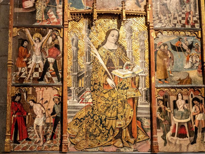 museu d art girona frau freibeuter reisen altarbild santa cristina