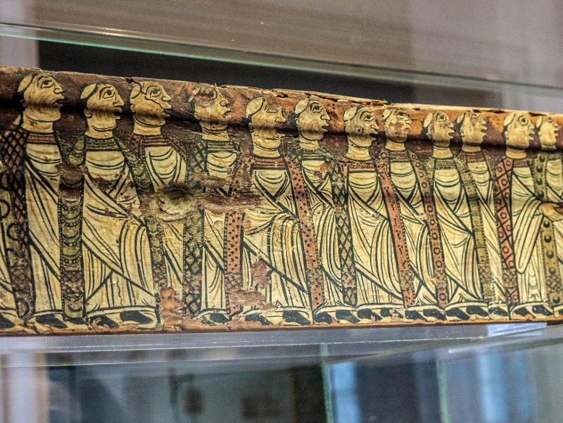 museu d art girona frau freibeuter reisen balken romanisch malerei
