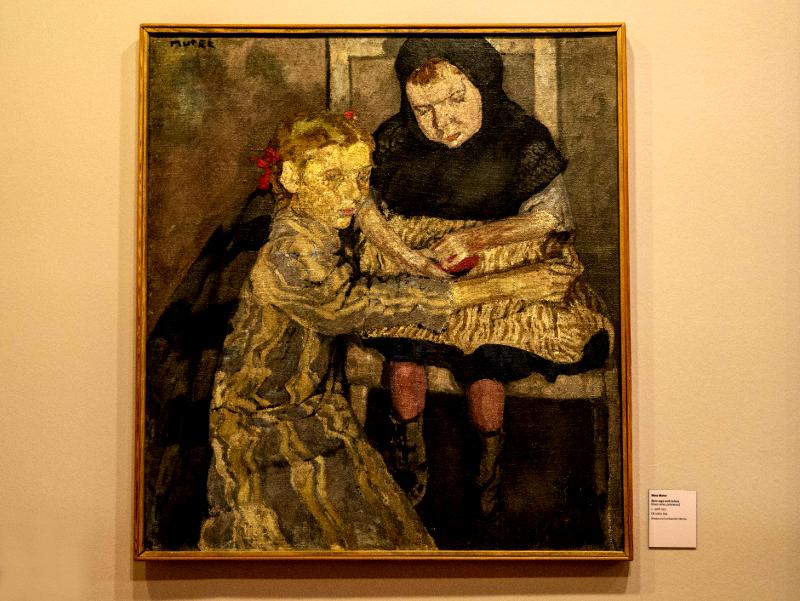 museu d art girona frau freibeuter reisen mela muter blindes kind