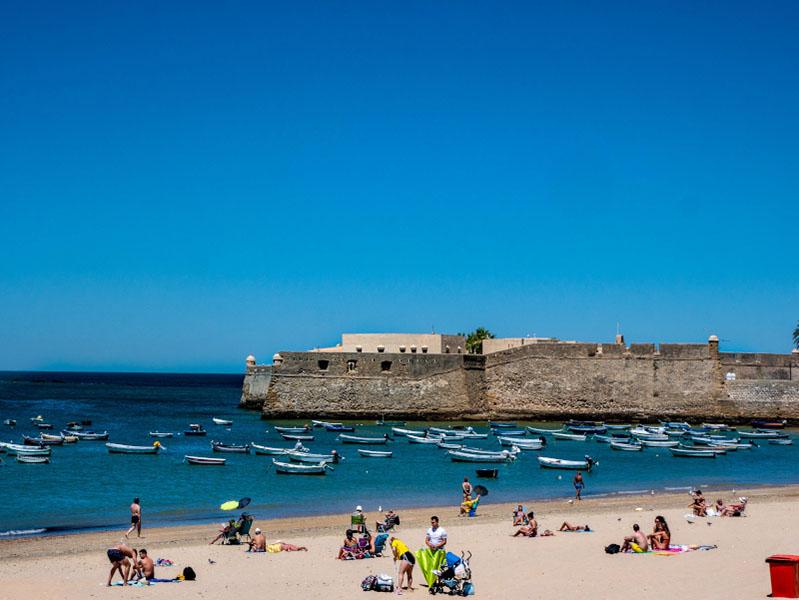 strand Altstadt Cádiz