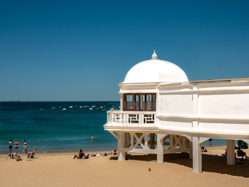 la caleta strand Altstadt Cádiz