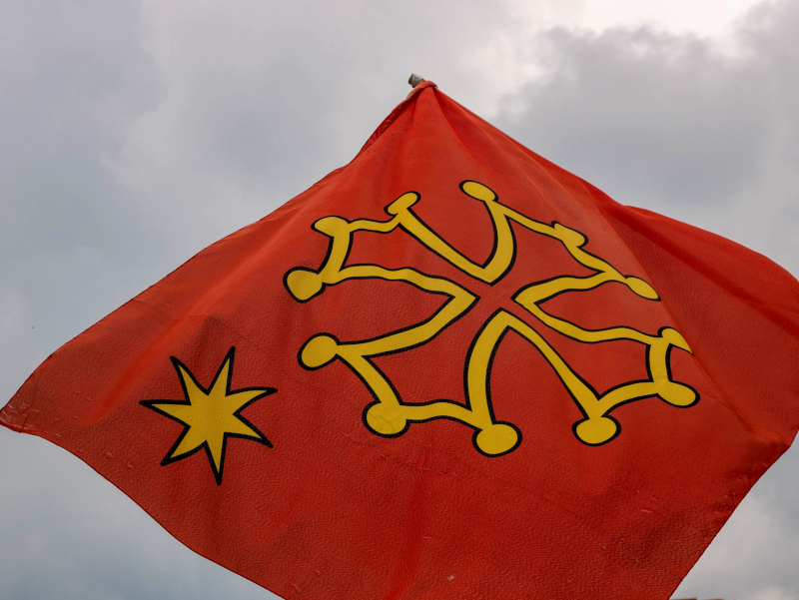 okzitanische flagge