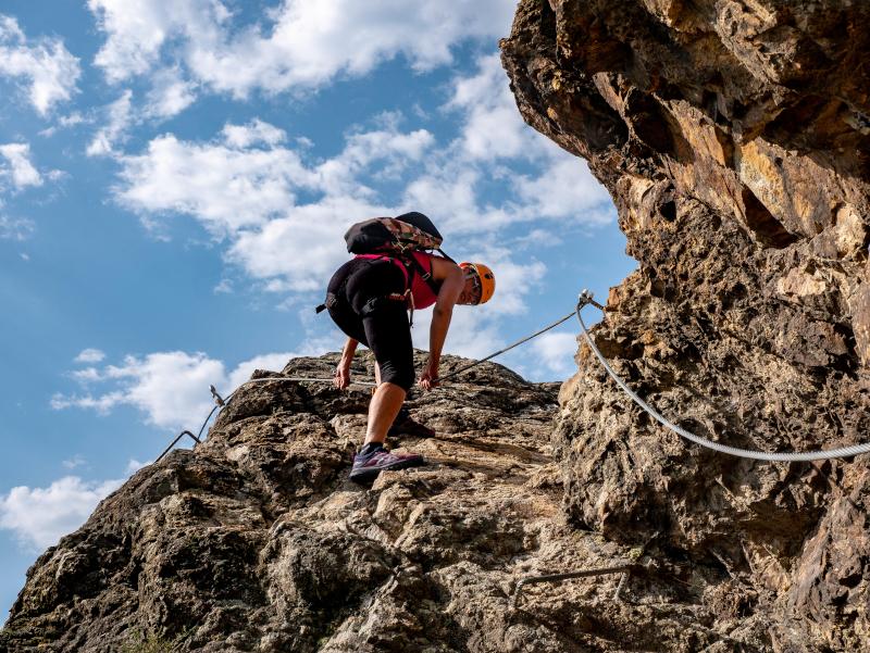 klettersteig via ferrata roca de la creu
