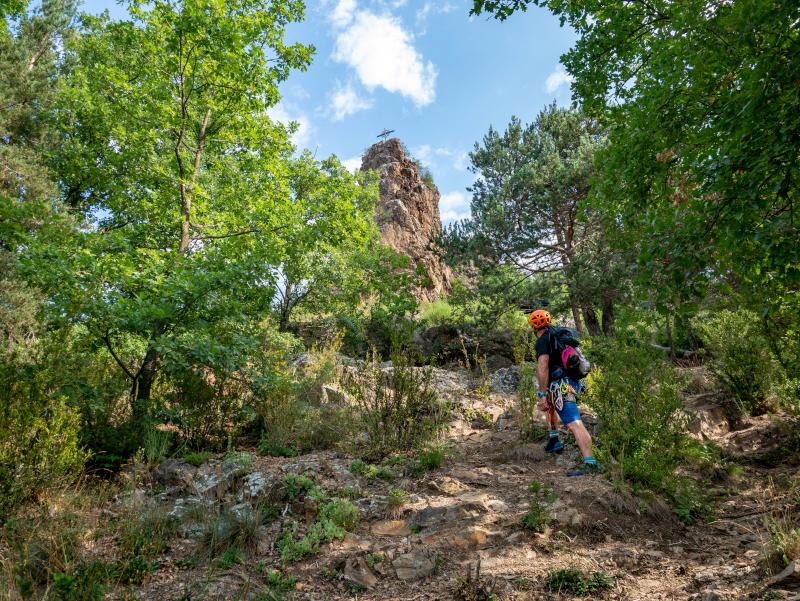 roca de la creu ribes de freser klettersteig via ferrata