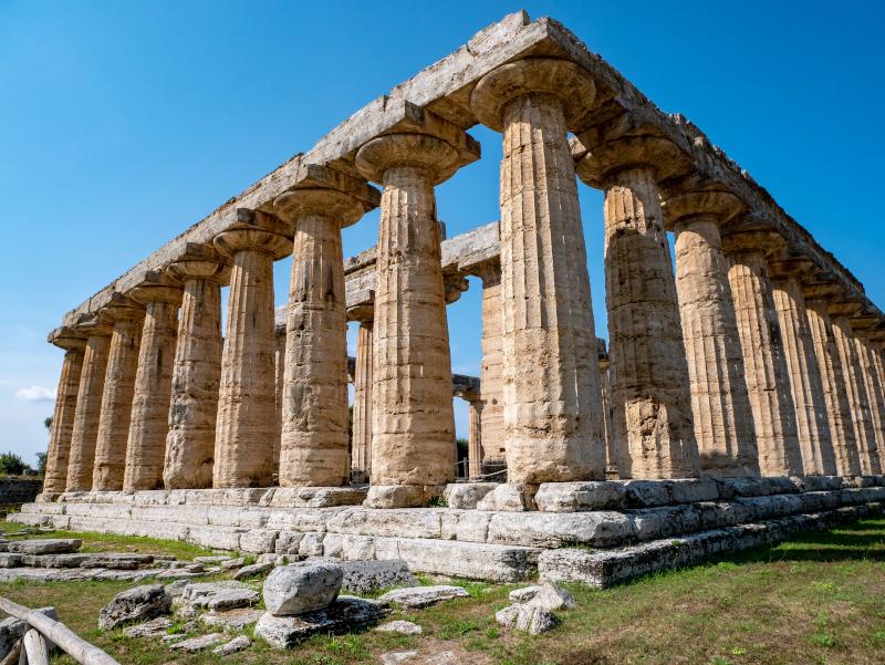 basilika tempel der hera paestum poseidonia