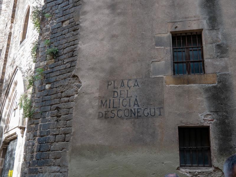 guerra civil spanischer buergerkrieg barcelona milica desconegut