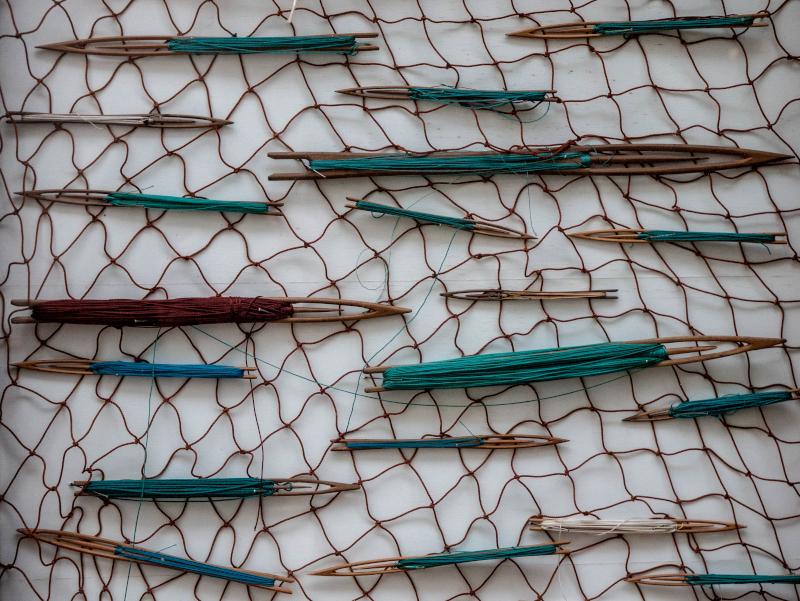 hand genaehte fischernetze tirada a lart lloret de mar