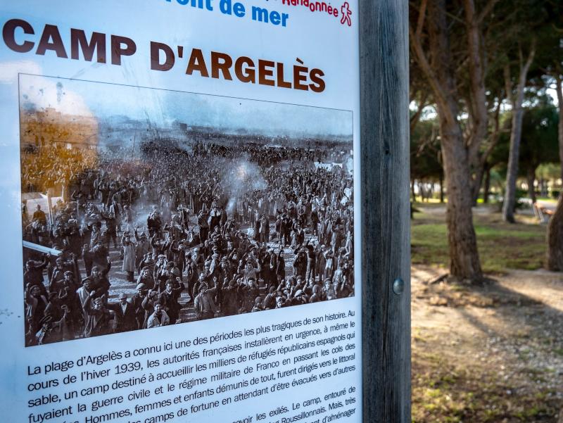 gedenkstein la retirada Argelès sur mer lager