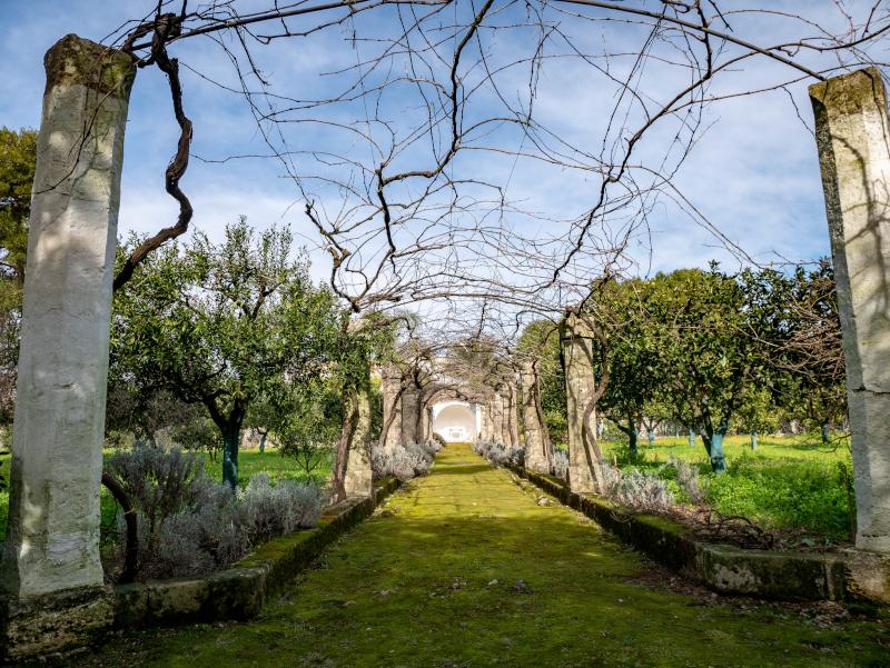 castel di salve weingueter apulien schlossgarten
