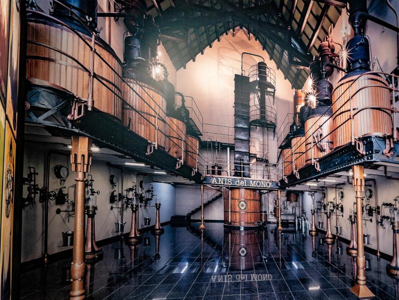 modernistische fabrik anis del mono badalona museum