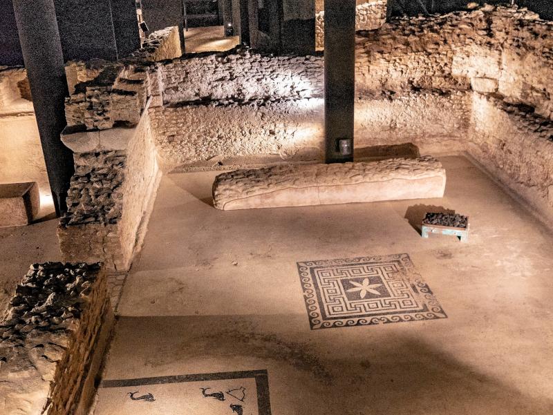 unterirdisch ausgrabungen baetulo badalona museu