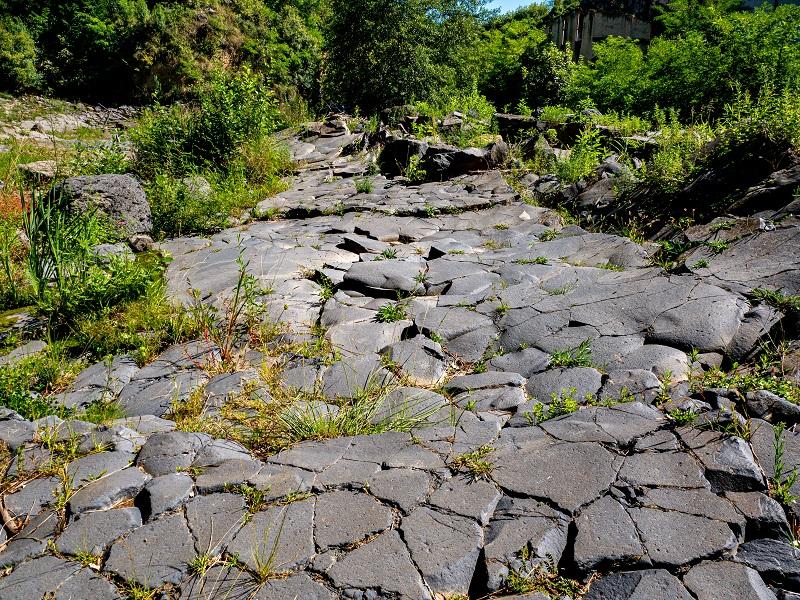 Lava gestein vulkane