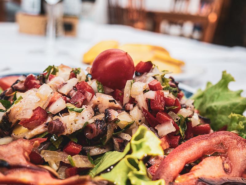 Aljezur Restaurant Ensalada do Polvo Tintenfischsalat