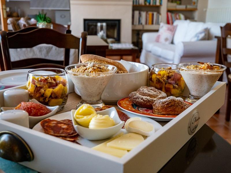 Frühstück Bed and Breakfast Cortijo Sarmiento Andalusien