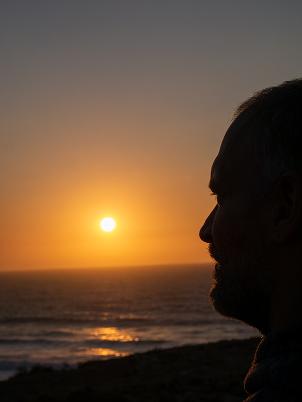 Michi Praia do Amoreira Sonnenuntergang Algarve