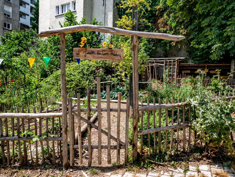 Le Hédas Pau urbane gärten
