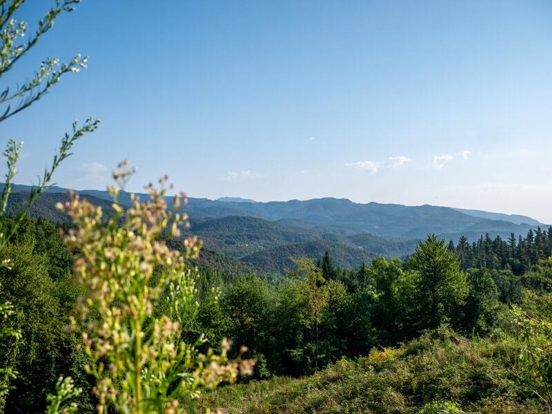 Montseny Aussicht vom Montseny Richtung Osten