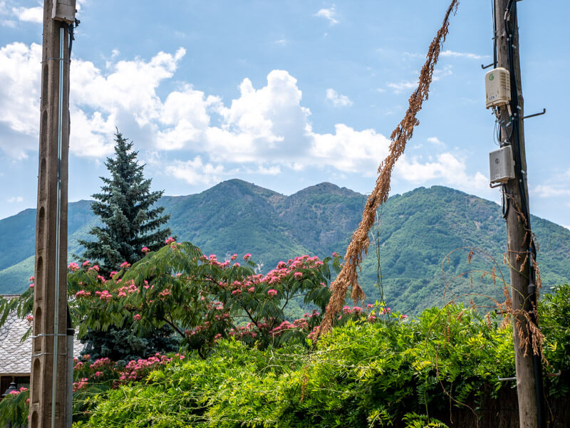 Montseny Blick aus Viladrau