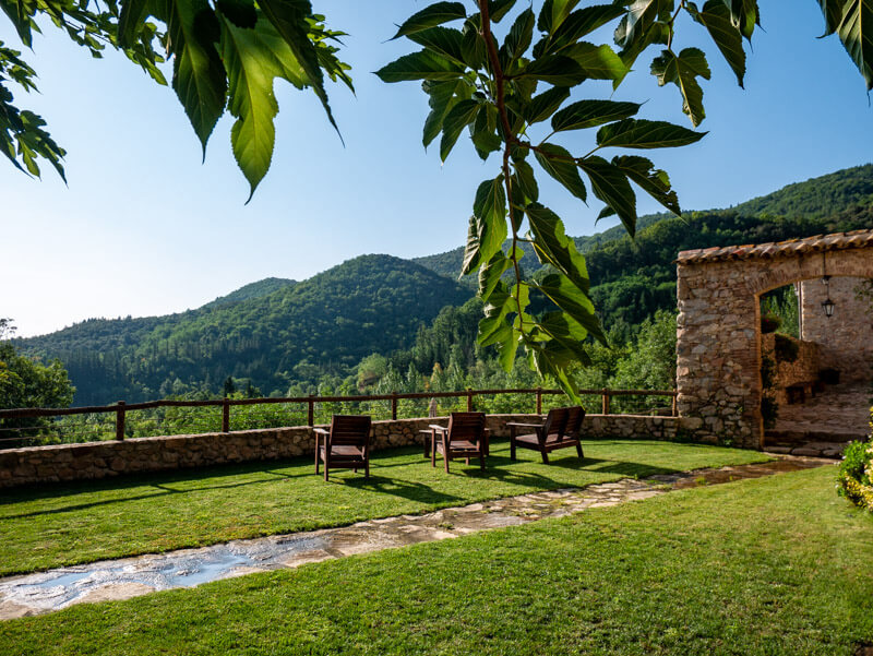 Montseny Unterkunft Mas Vilar Natur