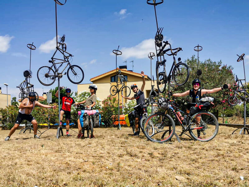 freunde Radtour Katalonien