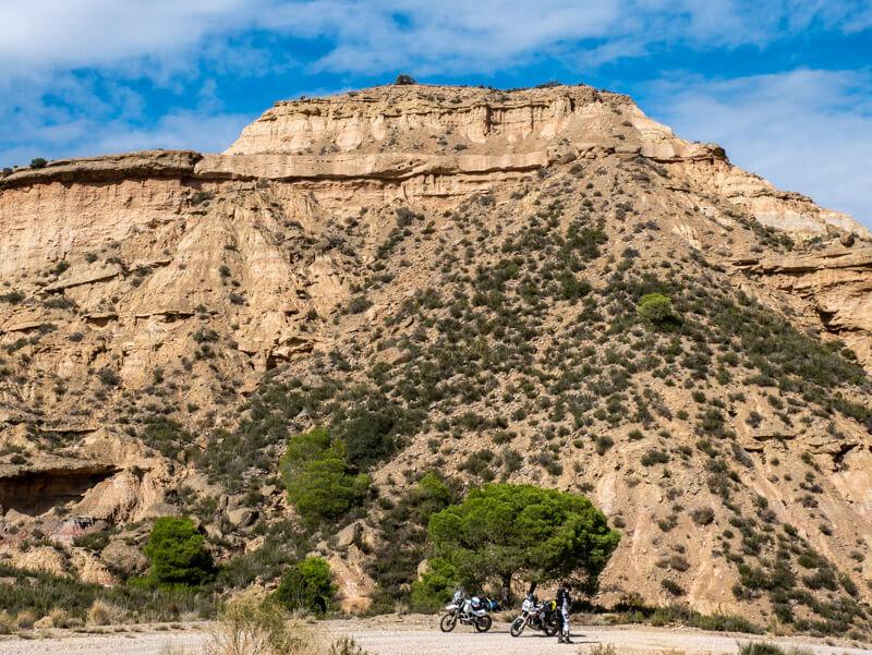 Ruta Jubierre Wandern spanien Aragon motorrad