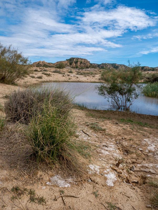 Ruta Jubierre Wandern spanien Aragon nach dem regen wasser