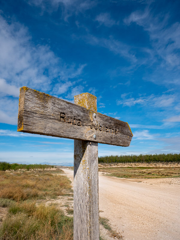 Ruta Jubierre Wandern spanien Aragon schild